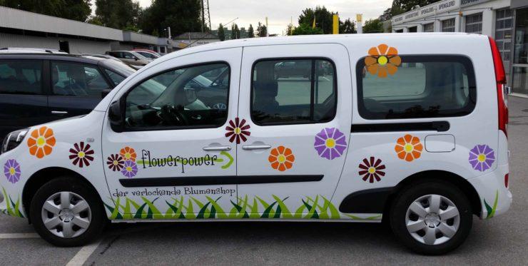 Peugeot Kangoo im flowerpower Style