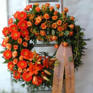 Trauerkranz Orange