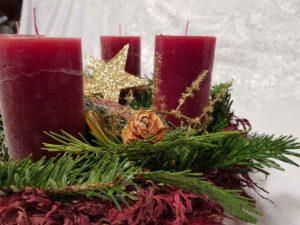 Adventteller Holz rot