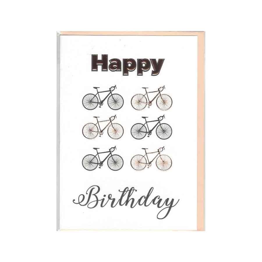 Happy Birthday Karte.Karte Happy Birthday Fahrrad