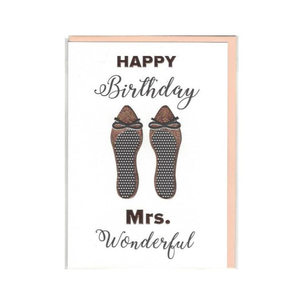 Karte Happy Birthday Mrs. Wonderful