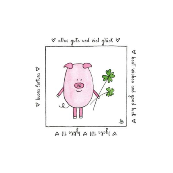 Karte Herzenskunst Alles Gute Und Viel Glück