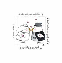 Karte Herzenskunst Hochzeit