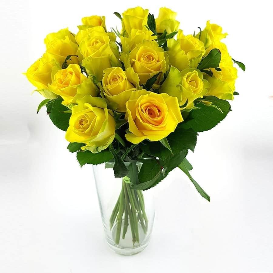 Beliebt Bevorzugt 20 Stück gelbe Rosen ~ flowerpower &VL_88