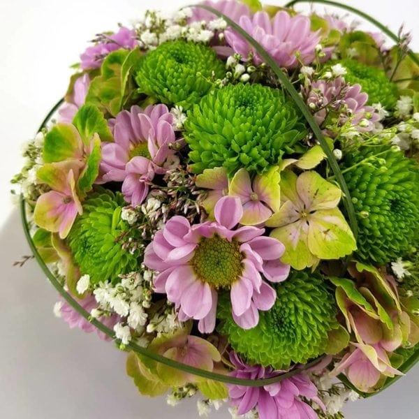 Blütenmuffin Rosa Teller