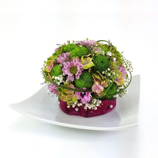 Blütenmuffin Rosa Teller 2