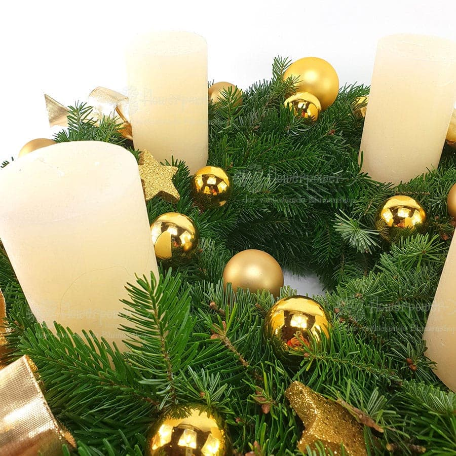 Adventkranz Gold 2