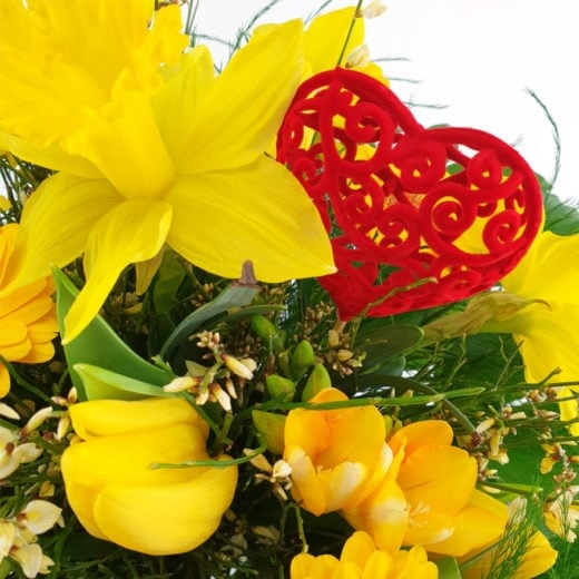 Warum schenkt man zum Valentinstag Blumen?