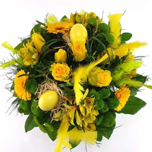 Gelber Blumenstrauß Eiertanz in gelb