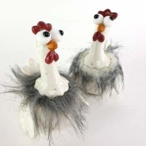 Huhn Grauweiß 2er