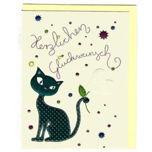 Katze Herzlichen Glückwunsch