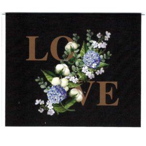 Karte mittel Blumen LOVE
