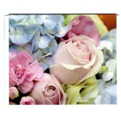 Karte mittel Blumen