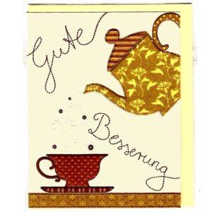 Karte Gute Besserung Tee