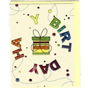 Karte Happy Birthday Geschenk
