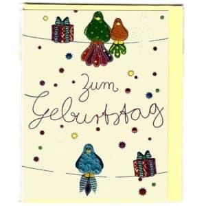 Karte Zum Geburtstag Vögel