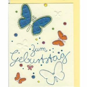 Zum Geburtstag Schmetterling