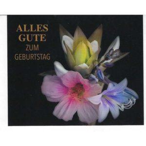 Karten mittel Lilien Geburtstag