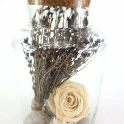 Apothekerglas Lavendel Detail