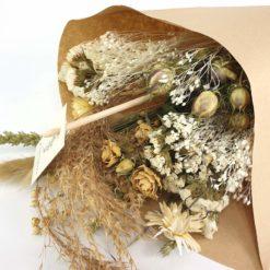 Trockenblumen Weiß Detail