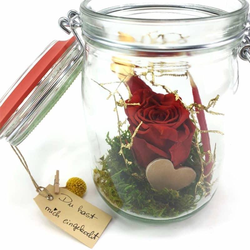Wunschglas Rot Detail