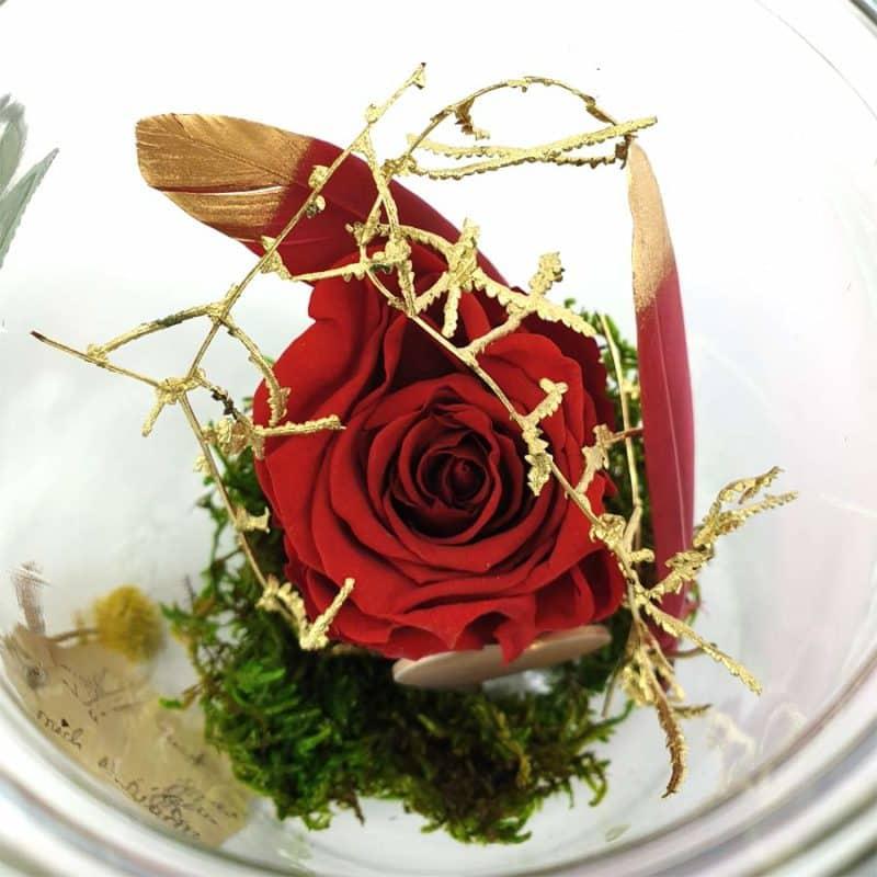 Wunschglas Rot Detail3