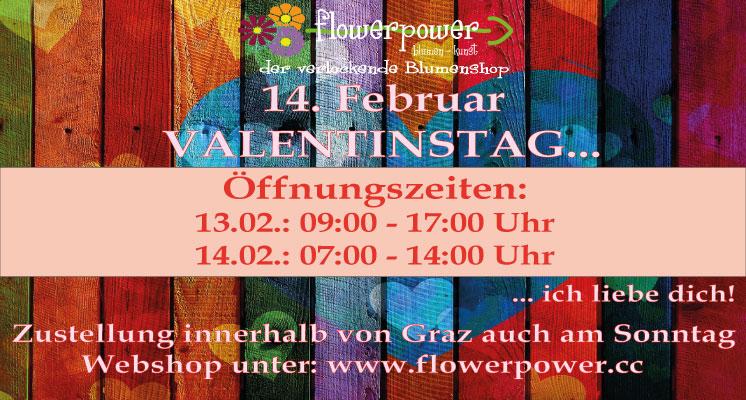 Öffnungszeiten Valentinstag 2021